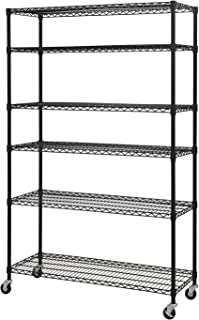 Sandusky Lee MWS481874-B 6-Tier Wire Shelving Unit with 3