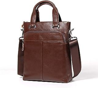 Crossbody Bag Fashion Men's Bag Men's Shoulder Bag Genuine Leather Business Bag Handbag 5L Waterproof Cowhide Work Package Outdoor Leather Bag