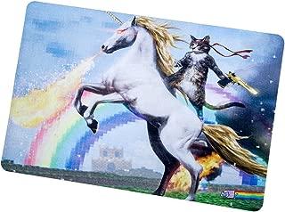 Colorful Art Cat Horse Pixel Rainbow Fire Home Welcome Door Mat Rug popular