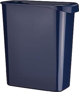 リス 『ゴミ箱』 WORK&WORK くず入れ・ダストボックス 角型 8L ダークブルー