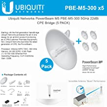 Ubiquiti PBE-M5-300 (5-Pack) PowerBeam M5 22dBi AIRMAX Bridge 300mm Outdoor 5GHz