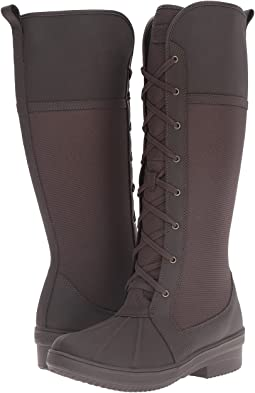 Dark Brown Leather/Texile Combo
