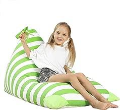 Aubliss Stuffed Animal Storage Bean Bag Chair - Plush Animal Toy Organizer for Kids, Girls and Children | Extra Large | 23 Inch Long YKK Zipper | Premium Cotton Canvas (Green)