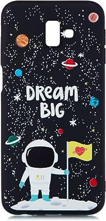 CUAgain Coque Compatible avec Samsung Galaxy J6+//J6 Plus 2018 Silicone Motif Dr/ôle Noir Plan/ète Antichoc Ultra Fine Slim /Étui Galaxy J6 Bumper Kawaii Case Cover Housse pour Femme Fille Homme,Univers