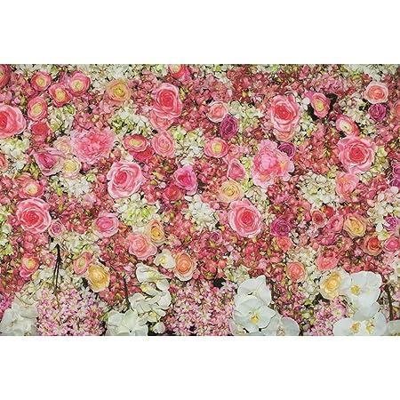 DORCEV 6x4ft Flower Photography Backdrop Wedding Birthday Party Bridal Shower Baby Shower Background Rose Flower Wall Garden Kids Adult Lover Wedding Photo Studio Props