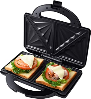 Auertech Sandwich Maker, Toaster and Electric Panini Maker Omelette Grilled Cheese Machine with Extra-Large Non-Stick Plat...