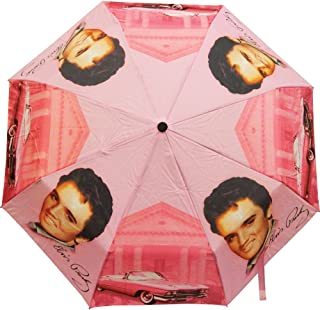 Elvis Presley Foldabld Umbrella Pink with Cadillac