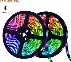 ELEAD LED Strip Light Smart Bluetooth 5050 RGB Decoration Lights 600 LEDs 10 Meters Colorful TV Backlighting Waterproof Rope Lighting Sync to Music for Home Kitchen Bedroom Desktop Hotel Outdoor Bar