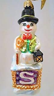 Christopher Radko 2000 Snowbell on The Snow Block Qvc Exclusive Glass Ornament 5.5
