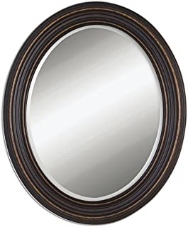 Uttermost 14610 Ovesca Oval Mirror, Bronze