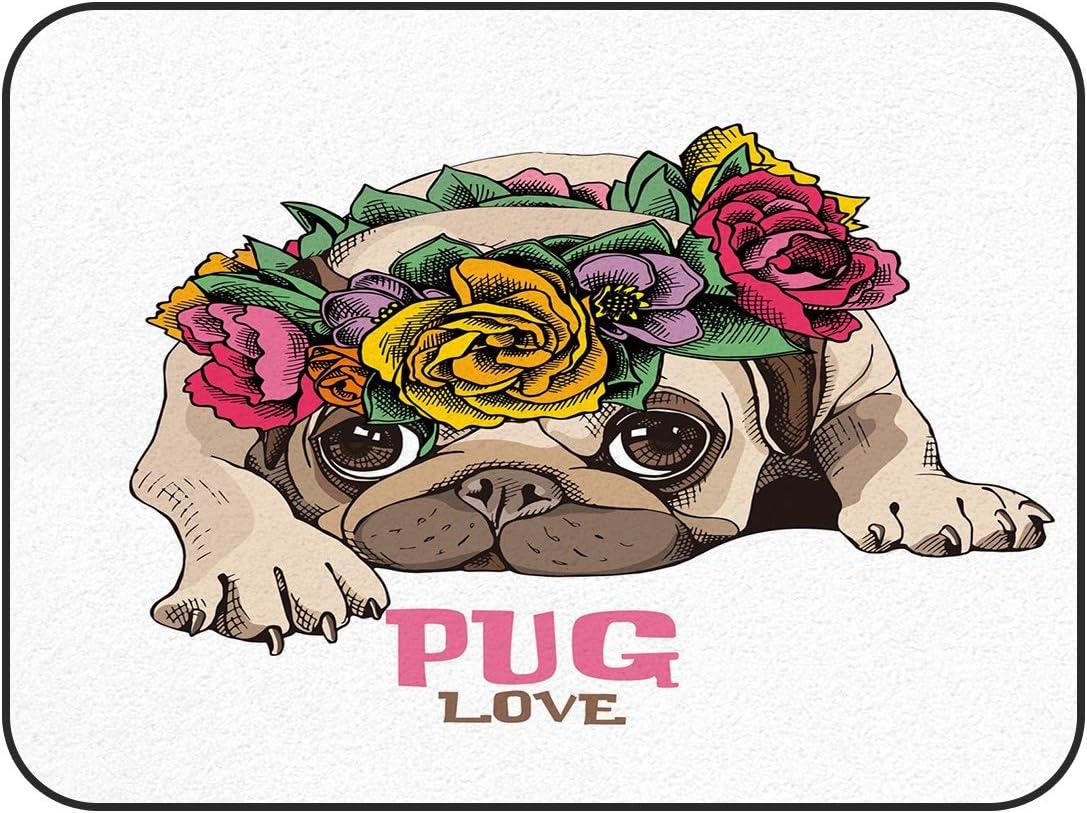 Infinidesign Pug Love Area Rug 60x82inch Selling Rectangular Non F Slip New sales