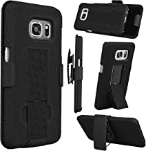 Tinysaturn Samsung Galaxy S7 Case, for Galaxy S7 Case, [Ystorm] Shock Absorbing Belt Clip Holster Kickstand Rugged Hard Shell Rubber Full Protection Cover - Black