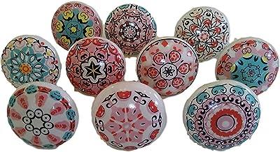 Pink 10 x Mix Vintage Look Flower Ceramic Knobs Door Handle Cabinet Drawer Cupboard Pull Mandala Xfer New by JGARTS (20)