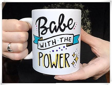 ab4221ee2f3 Hand Painted Coffee Mugs, Babe with the Power Mug, Girl Power, Labyrinth Mug