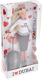 Simba I Love Dubai Doll With Trolley Bag - 3 Years And Above - Multi Color