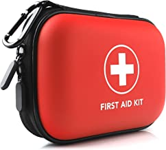 PRICARE Mini First Aid Kit, 95 Pieces Small Water-Resistant Hard Shell Case - Perfect for Travel, Outdoor, Home, Office, Camping, Hiking, Car