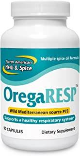 North American Herb and Spice, OregaRESP Capsules, 90-Count