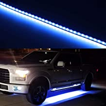 iJDMTOY (2) 40-Inch 63-SMD Flexible LED Running Board/Side Step Lighting Kit For Ford GMC Chevy Dodge Toyota Nissan Honda Truck SUV, Ultra Blue