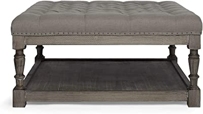 Swell Amazon Com Beaumont Lane Button Tufted Coffee Table Ottoman Download Free Architecture Designs Grimeyleaguecom