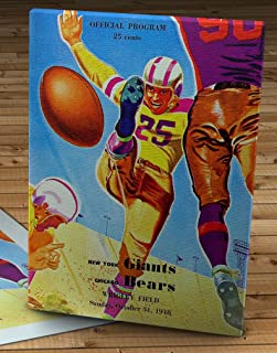 1948 Vintage New York Giants - Chicago Bears Football Program - Canvas Gallery Wrap - 12 x 16