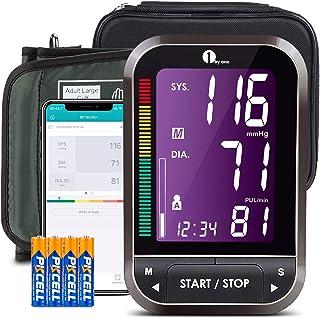 1byone Blutdruckmessgerät Bluetooth, Blutdruckmessgerät Oberarm Bluetooth Wireless Digital, Blutdruckmessgerät mit App, Blutdruckmessgerät große Manschette, Export Daten als Excel