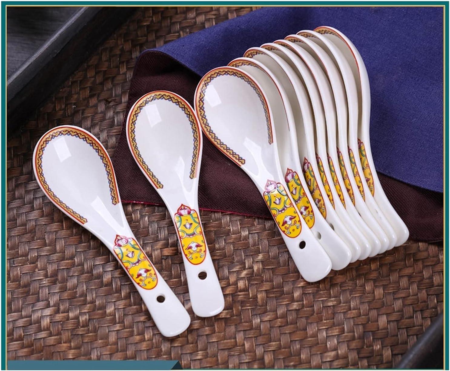 Spoon Jingdezhen Free shipping / New Ceramics Household Spoons Dinin Small Ranking TOP7
