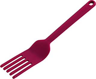 Kuhn Rikon Silicone Whisking Fork with Angled Tips & Flexible Steel Core, Red