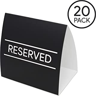 Reserved Signs Table Tents for Restaurants, Weddings, and Events (Pack of 20)