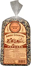Amish Country Popcorn - Midnight Blue Kernels (2 Pound Bag) - Old Fashioned, Non GMO, and Gluten Free with Recipe Guide