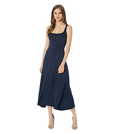 Michael Stars Luxe Jersey Willow Fit Flare Midi Dress (Admiral) Women