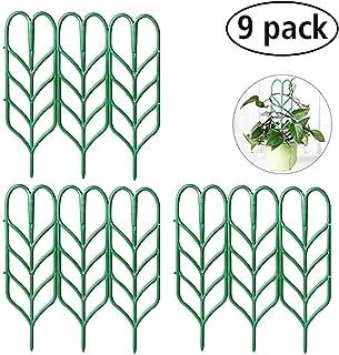 "Seway Garden Trellis, Plant Trellis DIY for Potted Plant Support, Leaf Shape Mini Climbing Plants Flower Vegetables Rose Vine Pea Ivy Cucumbers Pots Support, 4 16"""