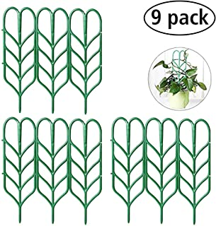 Seway Garden Trellis, Plant Trellis DIY for Potted Plant Support, Leaf Shape Mini Climbing Plants Flower Vegetables Rose Vine Pea Ivy Cucumbers Pots Support, 4 16