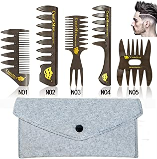 6 PCS Hair Comb Styling Set Barber Hairstylist Accessories,Professional Shaping & Wet Pick Barber Brush Tools, Anti-Static Hair Brush for Men Boys