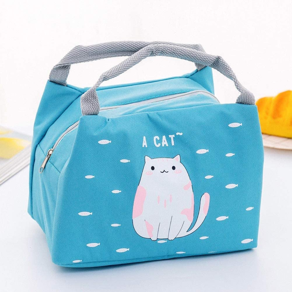 Picnic Backpack Portable Insulated Lunch Bag Cute Printed Picnic Bag Camping Coolers Canvas Picnic Food Tote Bag Amazon Co Uk Sports Outdoors