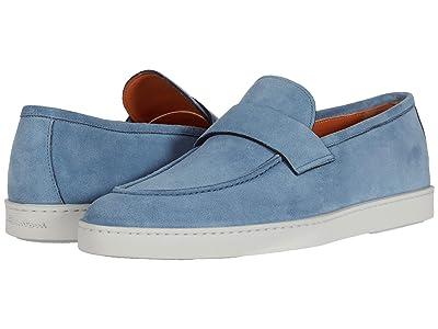 Santoni Pace Sneaker (Blue Suede) Men