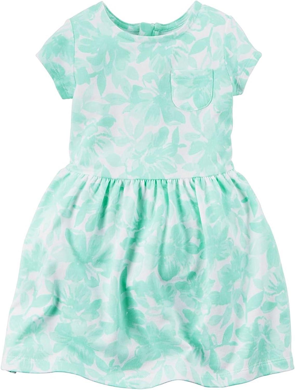 Carter's Girls' 2T-8, Lightweight Cotton Jersey Short Sleeve Dresses