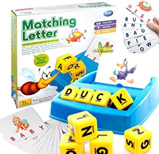 Baby Matching Letter Toy English Spelling Alphabet Letter Word Spelling Game Spell Words Board Game for Kids Educational L...