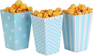 NUIBY 36 Pcs Popcorn Boxes Treat Boxes Movie Popcorn Paper bags for Dessert Tables & Wedding Favors