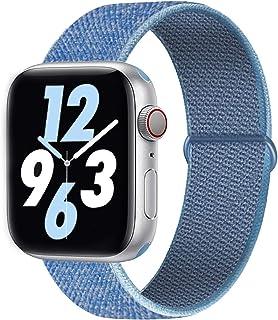 Qunbor Correa Compatible con Apple Watch 38mm 40mm 42mm 44mm para iWatch Series 5 4 3 2 1, Sport Nailon Trenzado Loop Tela Tejido Elastica Repuesto Pulsera Mujer Hombres Transpirable Reemplazo Banda