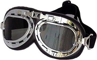 Lunettes de Moto pour Casque Look Retro Vintage Steampunk Cosplay UV VerresFumes