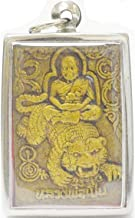 Buddhism Jewelry Lucky Tiger Amulets Lp Pern Ride Tiger Muay Thai Amulet Life Protection Buddha Pendant