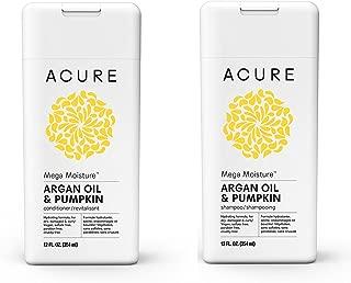 Acure Mega Moisture Shampoo – Conditioner Set Argan Oil & Pumpkin, 12oz ea Bottle