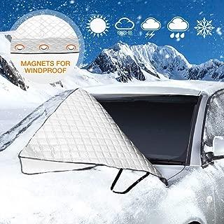 Protecci/ón contra el hielo Funda protectora antihielo para parabrisas proteger la luna delantera de la congelación y de la nieve en invierno y de los rayos UV en verano Protector Parabrisas 176 x 90 cm