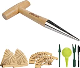 Natural Sustainable Beechwood UK Creamore Mill Mini Plant Dibber Garden Seed Dibber 10cm // 4 Bulb Planter Seed Planter Wooden Dibber Garden Tool Made in England