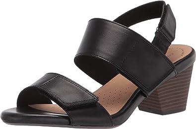 Amazon.com | Clarks Women's Lorene Bright Heeled Sandal | Heeled Sandals