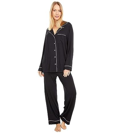 Barefoot Dreams Luxe Milk Jersey Pajama Set (Black) Women
