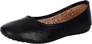 YAHE Faux Leather Casual Flat Belly Shoes for Womens and Girls Y-71
