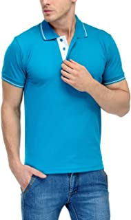 Scott Men's Cotton Polo T-Shirt - Turquoise Green - FBA_sp13m