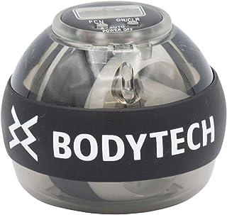 【Amazon限定ブランド】ボディテック(Bodytech) スナップボール オートスタート ツイストボール 手首トレーニング リストウェイト 筋トレ 静音 握力 LEDライト ストラップ付き BTS02CM016 ブラック