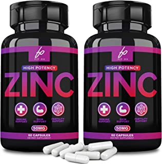Pure Zinc Supplement Vitamin Pills Capsules 50mg Oxide for Adults Kids - Alternative to Lozenge, Liquid, Gummies, Chewable...